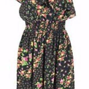MiAmi Francescas Dress L One Shoulder Ruffle NWT
